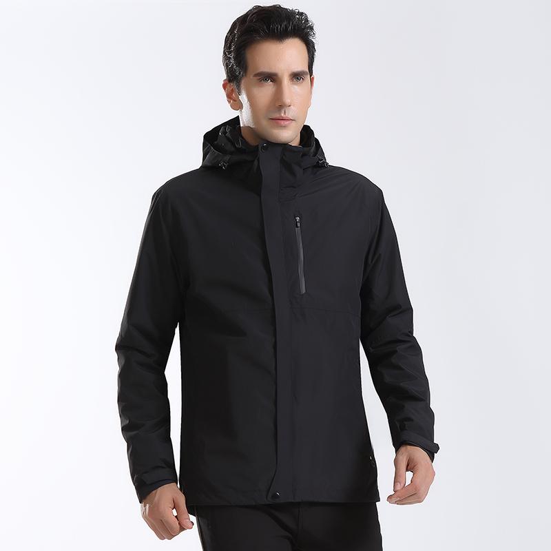 酷然戶外沖鋒衣男女冬季加絨加厚三合一兩件套防水潮牌外套登山服