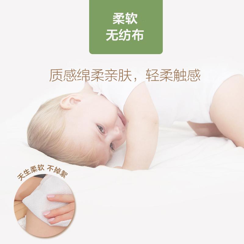 奥朵湿巾 婴儿100无香湿纸巾新生儿童宝宝手口湿巾纸共5大包带盖