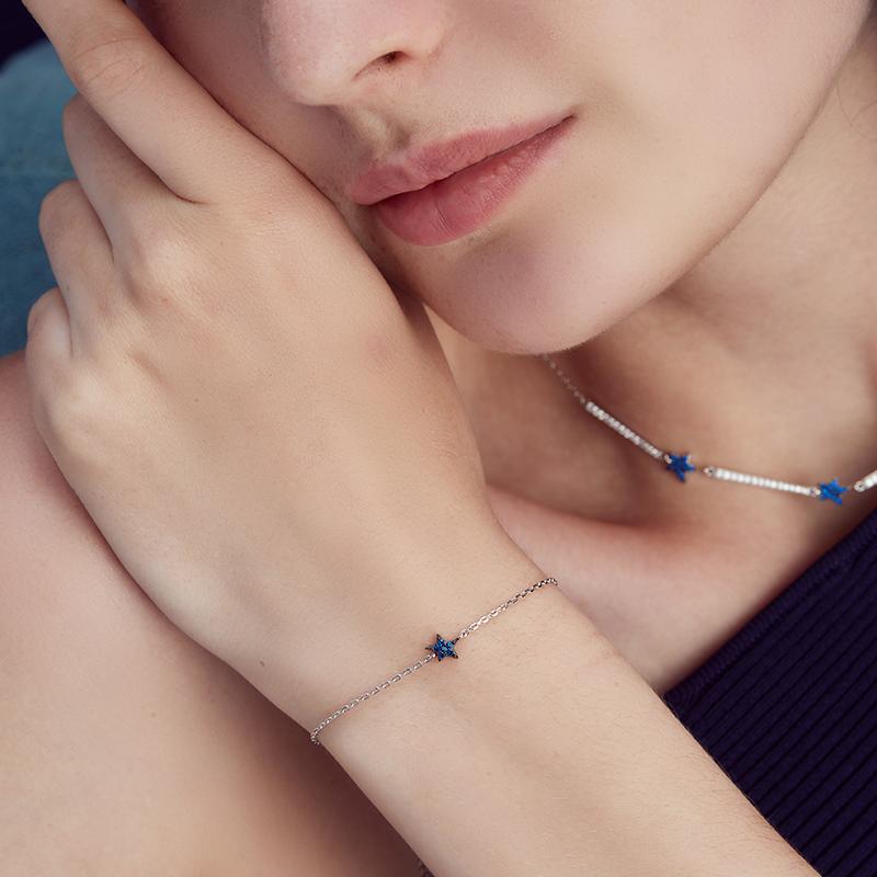 MASHAIRI 蔚蓝星河系列 小星光手链 女 925银手链银手环