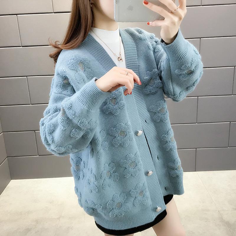 春韩版慵懒风学生外搭针织外套