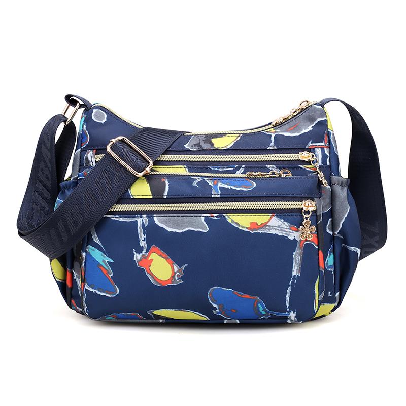 驰豹多层单肩包斜挎包轻便布包背包牛津布女包帆布大容量妈妈包包