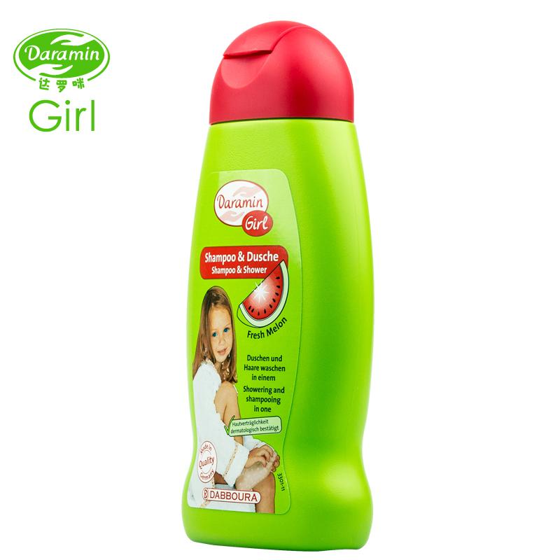 德国进口达罗咪儿童洗发水正品包邮3-15岁女孩沐浴露二合一无硅油