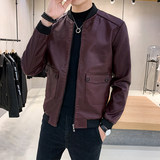 Autumn and winter men's leather clothing 2019 new Korean version of the trend of handsome and slim motorcycle leather jacket leather jacket men