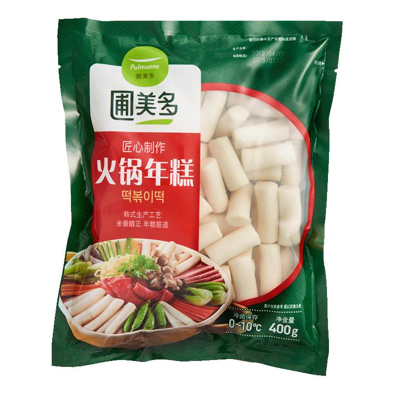 圃美多韩式火锅年糕 速食韩国炒年糕条 火锅零食白年糕条400g