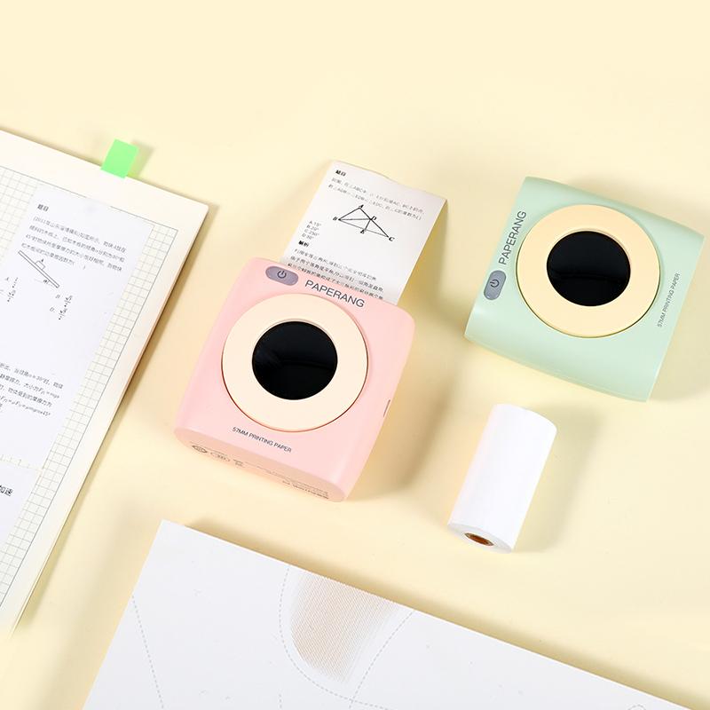 正品-作业帮喵喵机二代P2S学生免抄题纠错改错题本整理神器手机小型口袋便宜便携式迷你打印机家用错题打印机