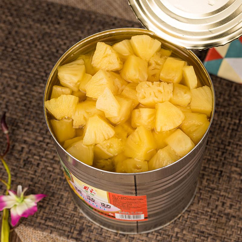 3公斤菠萝罐头烘焙 包邮整箱新鲜水果湛江菠萝罐头 糖水菠萝罐头