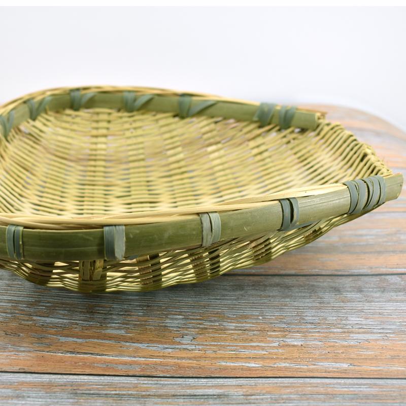 筲簸箕大小款竹编质品商家用迷你美观纯手工洗菜盆沥水篮子四川省