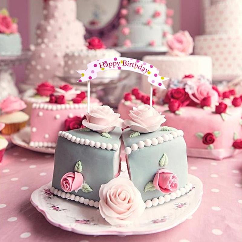 蛋糕装饰插旗 插牌 拱门 蛋糕插卡烘焙装饰配件 横幅生日快乐插片