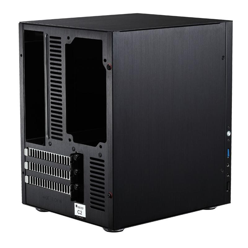 乔思伯C2 全铝电脑机箱 迷你mini 电脑机箱 铝合金机箱NAS机箱