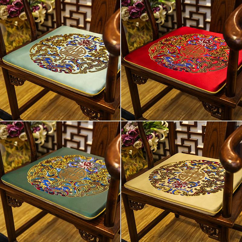 红木沙发坐垫中式古典家具圈椅太师椅官帽椅垫子椅子防滑家用椅垫