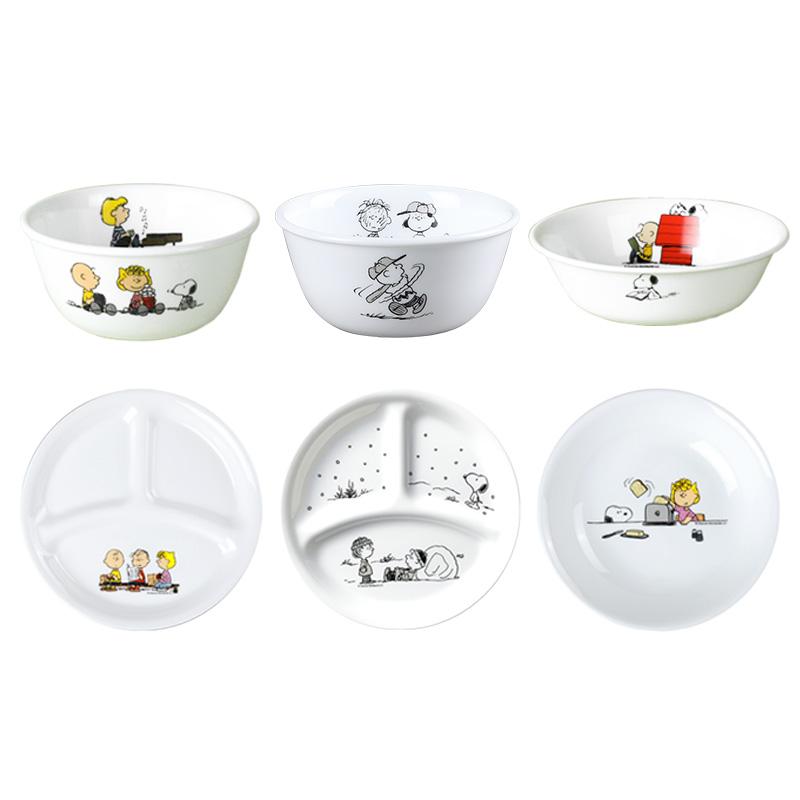【官旗】corelle康宁儿童餐具史努比Snoopy餐盘宝宝碗分格盘散餐【图2】