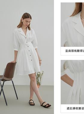 阿cir法式落跑公主仙女连衣裙薄款2021夏季新款小个子a字白色裙子