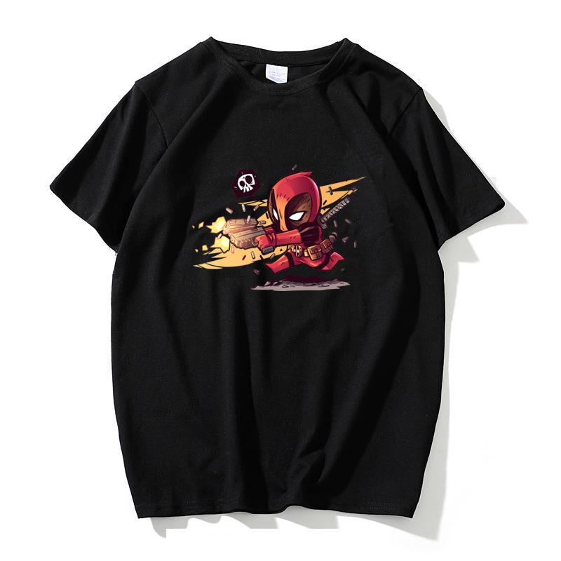 [淘寶網] 2018新款漫威超級反派英雄Q版死侍Deadpool周邊打底t恤衫春夏男裝