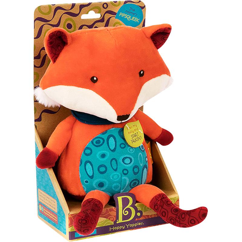 比乐B.Toys手偶安抚玩具动物狐狸小浣熊宝宝婴幼儿童毛绒玩偶