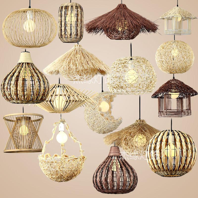 店铺圆球形鸟巢鸟窝房子草帽灯