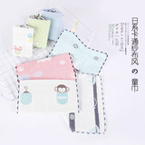 Japanese cartoon boxed children's towel A class children's cotton soft gauze towel wash cute small towel square towel