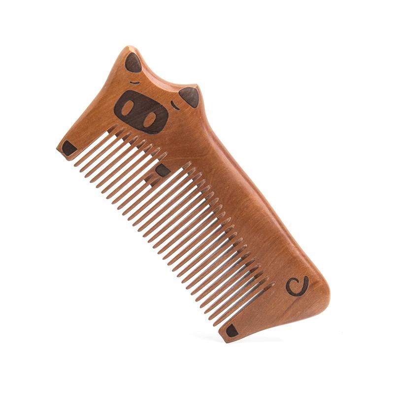 乙木桃木梳子天然静电按摩梳脱发卷发创意雕刻梳可爱纯刻字礼物防