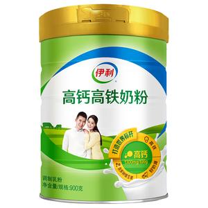【伊利】奶粉成年高钙高铁奶粉罐装900g