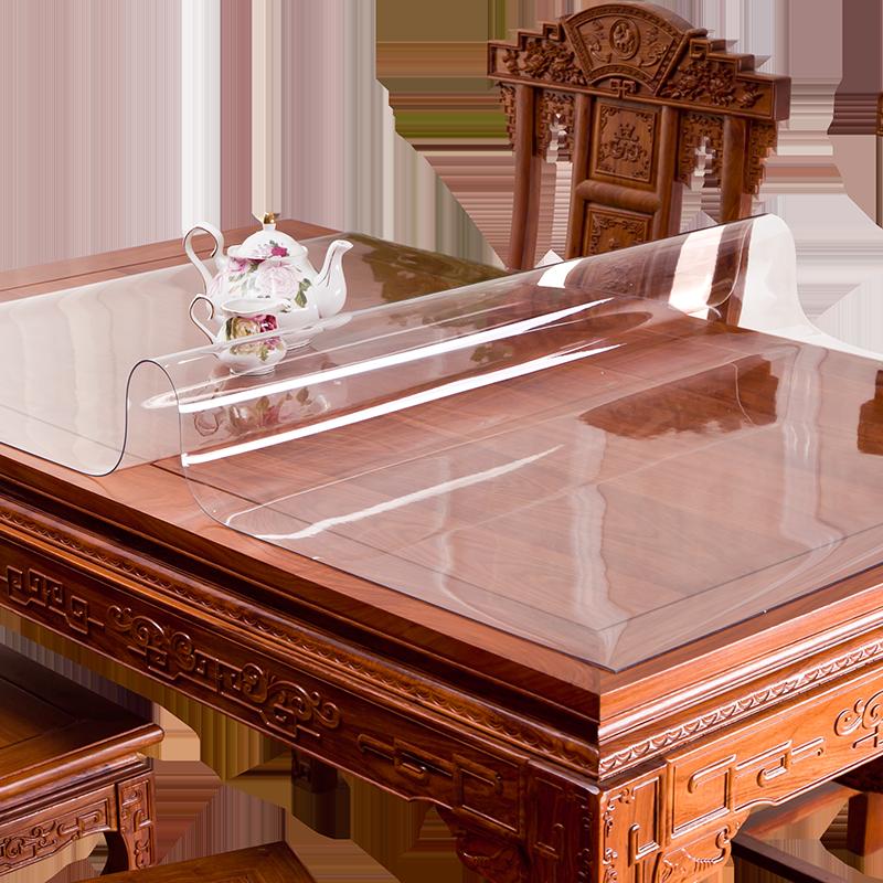 无味软玻璃透明餐桌垫PVC桌布防水防烫防油免洗塑料茶几厚水晶板