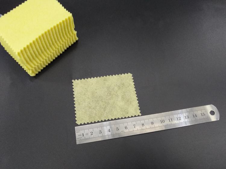 无尘布6*8超细防静电手机屏幕清洁贴膜除尘布工业 眼镜布 小黄布