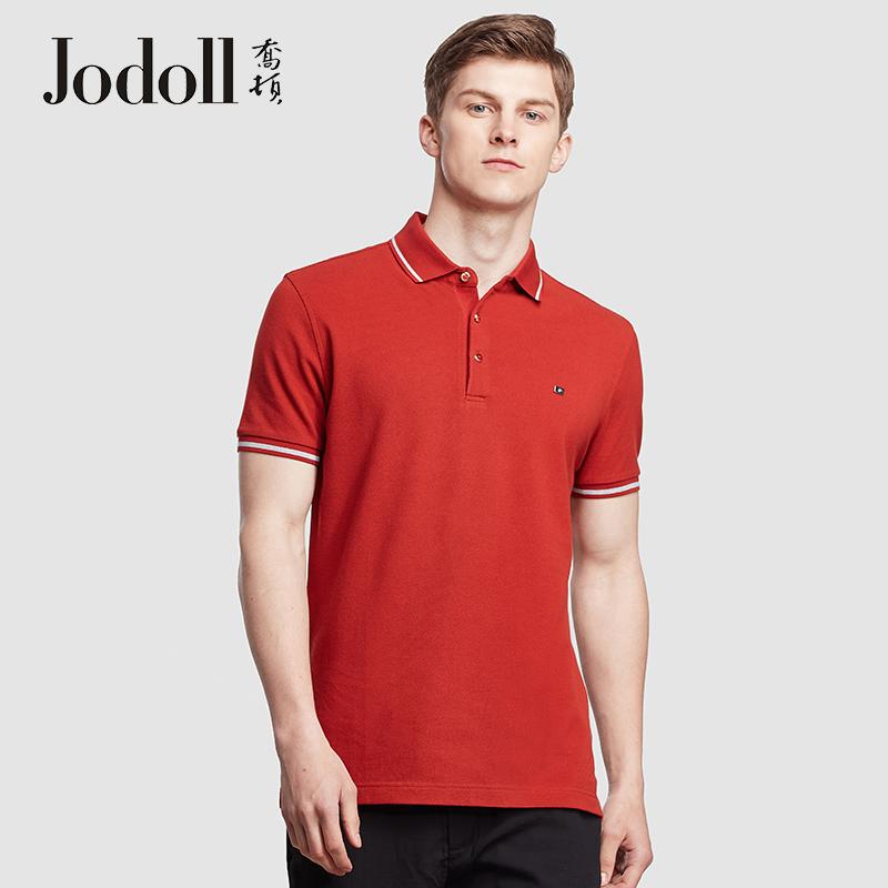 JODOLL乔顿春夏季商务休闲修身ins翻领时尚短袖t恤男士polo衫潮牌