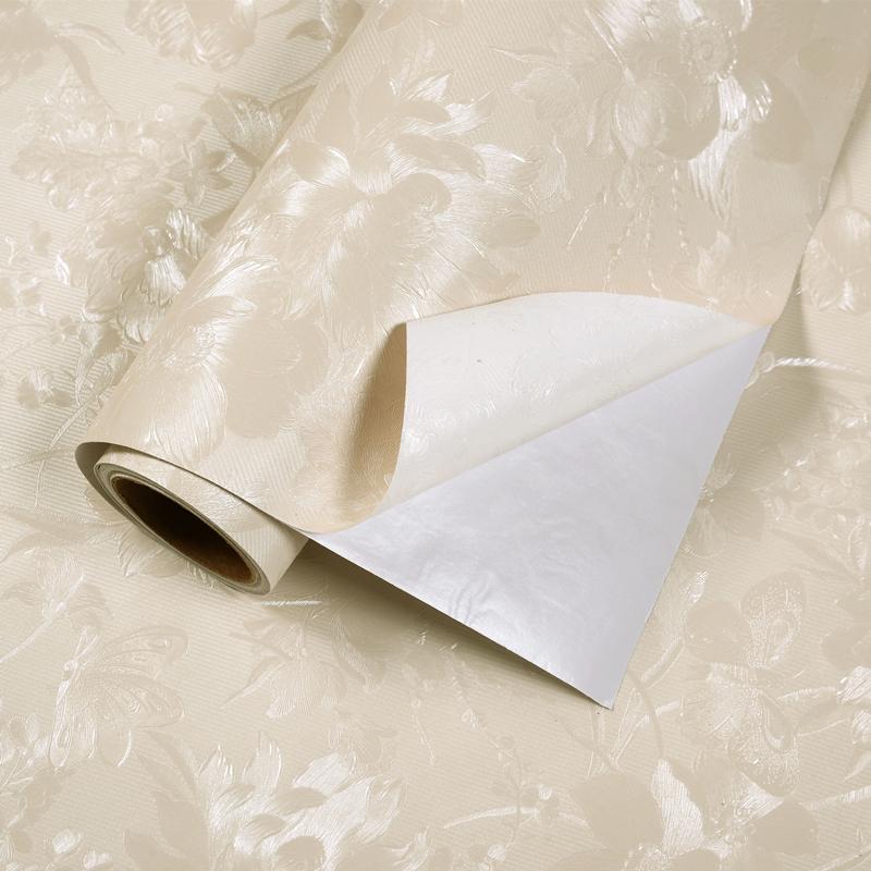 立體墻貼客廳臥室溫馨賓館家宿舍壁紙 3d 米加厚防水 10 自粘墻紙 pvc