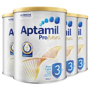 澳洲原装Aptamil新西兰爱他美幼儿奶粉3段白金版1-3岁*四罐