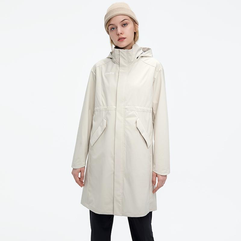 秋冬新款中长款梭织防风防水外套透气 后秀运动风衣女  HOTSUIT 2021