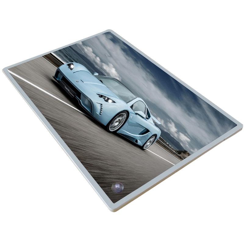 亞克力相框 a4 圓角磁吸展板電梯海報框鋁合金廣告框架掛墻制度畫框