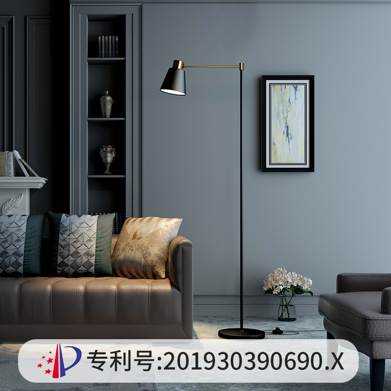 风卧室创意简约现代轻奢宜家网红沙发极简台灯 ins 落地灯客厅北欧