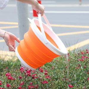 可折叠水桶家用带盖洗汽车载钓鱼美术便携式旅行储水盆大小塑料桶