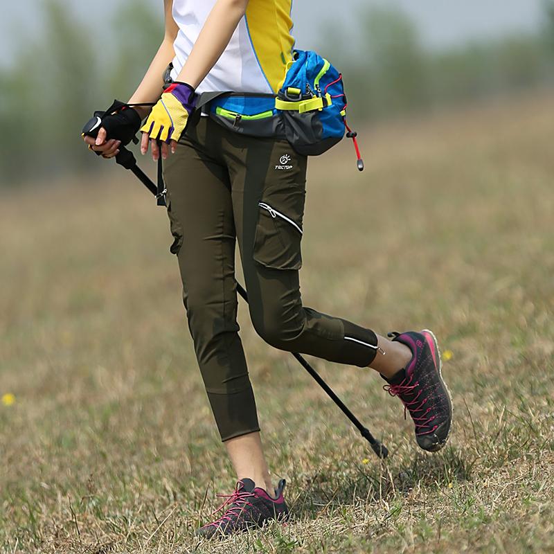 淘淘户外女裤透气速干裤女夏季快干九分裤显瘦徒步登山裤女运动裤