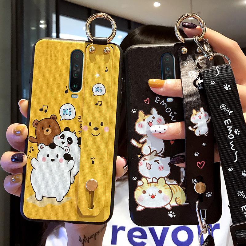 红米K30手机壳腕带小米redmiK30pro保护套5g版磨砂硅