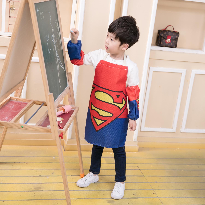 宝宝罩衣亲子男女儿童围裙画画衣套装幼儿园定制定做印字logo彩印