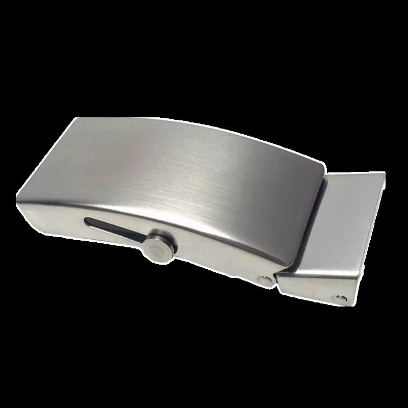 304不锈钢滚轴腰带扣头防过敏滚柱手工平滑无牙自动老式滚珠全钢