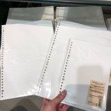 MUJI MUJI A5B5A4 Binder Replacement Paper Checkered Lines Loose-leaf Loose-leaf Refill Paper Bag