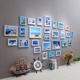 Simple modern living room photo wall decoration-free drilling creative combination photo frame wall photo wall backdrop Album