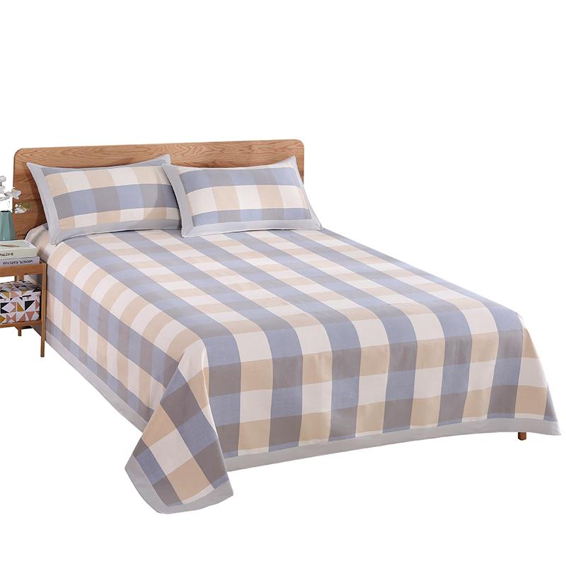 纯棉老粗布凉席三件套夏季全棉空调折叠席床单凉席亚麻帆布凉席子