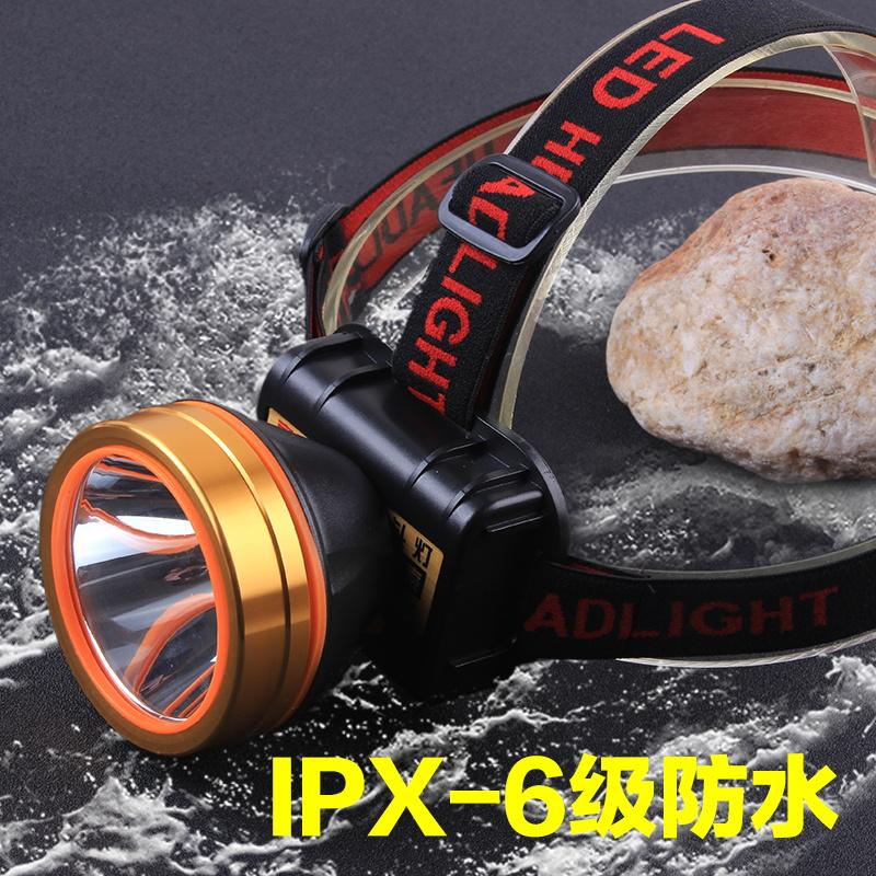 米钓鱼手电户外照明锂电池矿灯 3000 头灯强光可充电超亮 led 头戴式