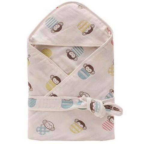 婴儿抱被纱布6六层60支纯棉 宝宝盖被子新生儿包巾冬秋春四季抱毯
