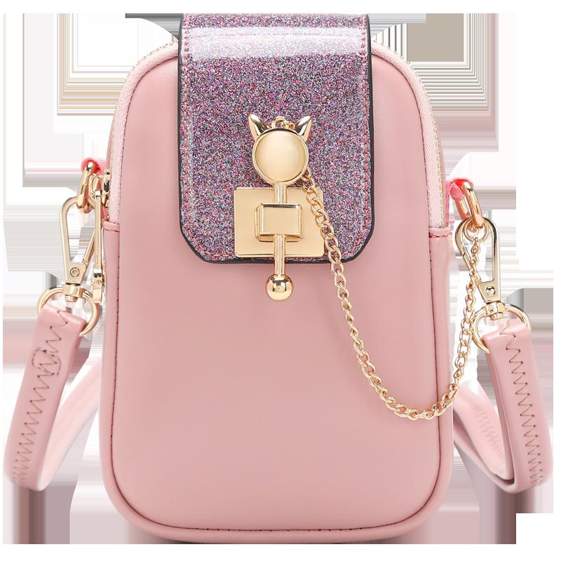 装放手机包女竖款斜挎的小包包2021新款链条迷你韩版潮包百搭夏季主图