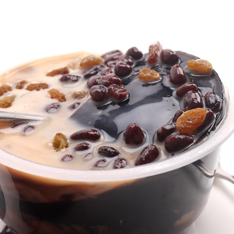台湾风味烧仙草蜜310g盒装配料包果冻布丁红豆龟苓膏即食奶茶冷饮