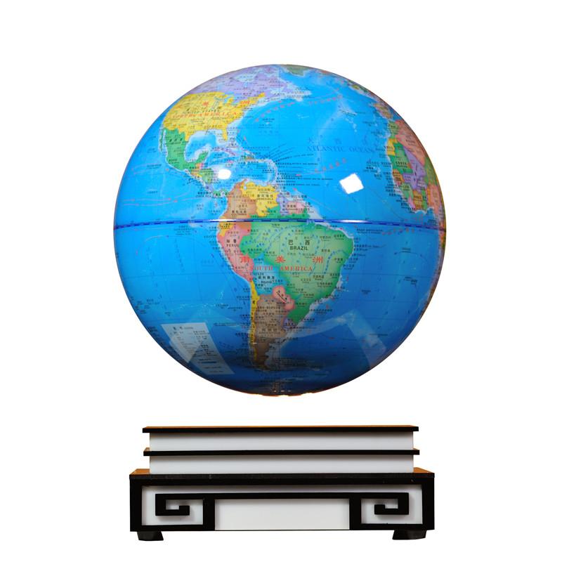 磁悬浮地球仪自转发光12寸高档精品教师节礼物送老师办公室摆件