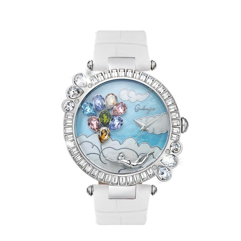 手表女迦堤腕表童话气球可爱时尚礼物法国进口石英表 Galtiscopio