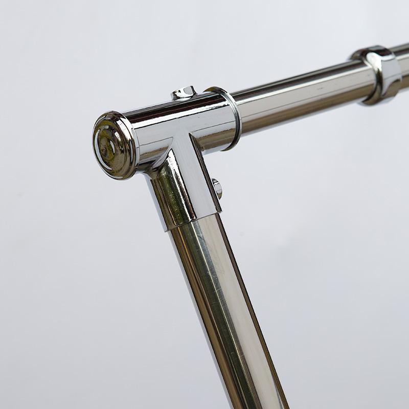 恋晴 折叠落地晾衣架X型不锈钢伸缩晒被杆三杆移动户外移动晒衣架