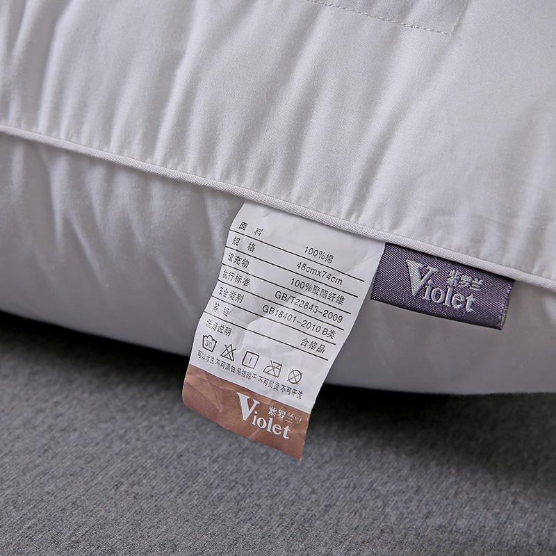 紫罗兰一对装全棉荞麦枕芯全荞麦皮荞麦壳枕头成人单人颈椎护颈枕