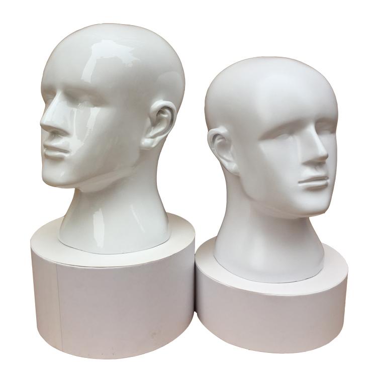 三太阳假发头模模特头男士 假人头模型道具 VR眼镜帽子饰品展示架