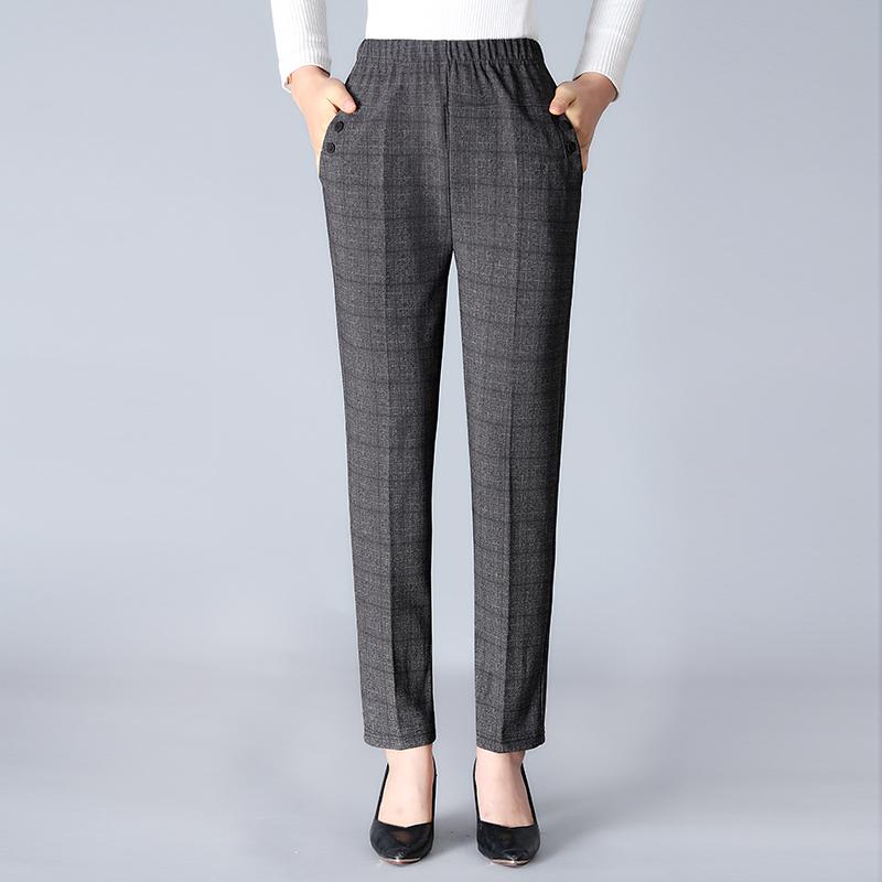 中老年女装休闲裤长裤子宽松大码中年妈妈装老年人奶奶装春装直筒