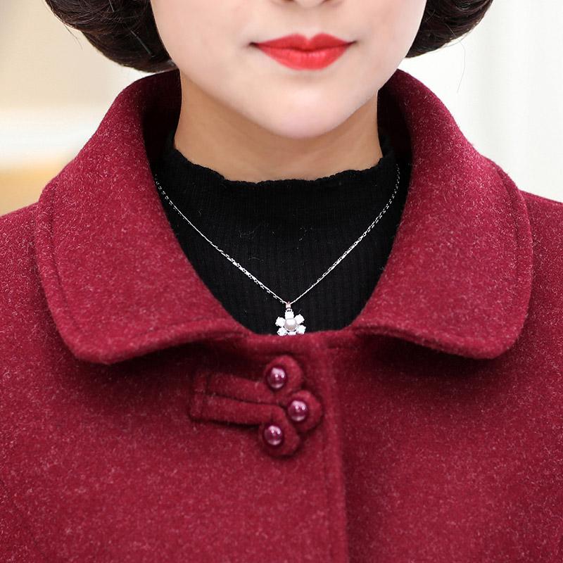 新款中老年女装毛呢套装 2018 中年女春秋上衣 50 岁 40 妈妈装秋装外套