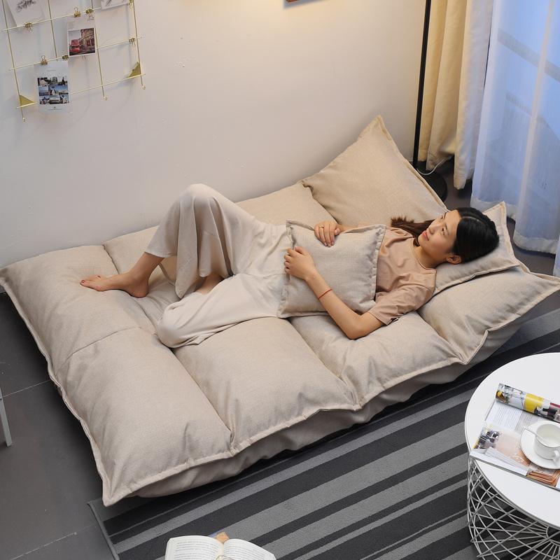 懒人沙发网红款折叠卧室榻榻米沙发地上双人小户型女孩房间小沙发